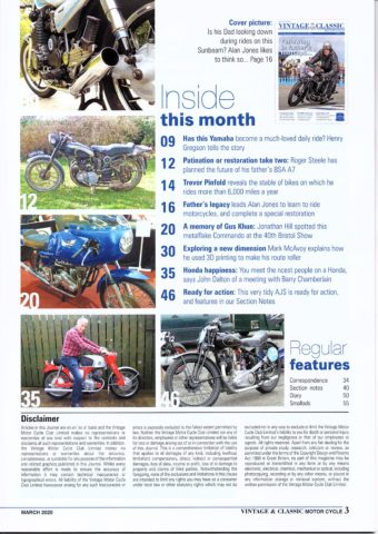 VMCC Club Magazine March 2020